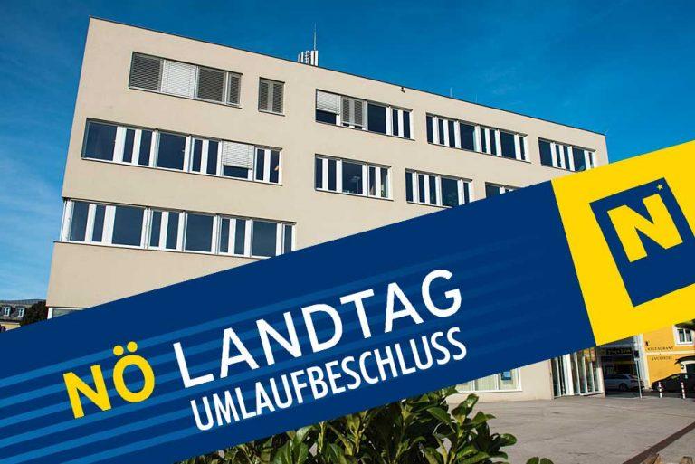 UMLAUFBESCHLUSS des NÖ-Landtags